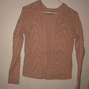 LUCKY brand heavy cotton pink sweater size M
